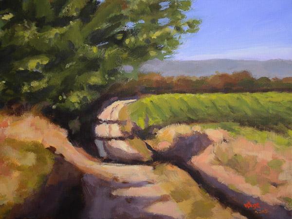 Weg in der Provence (n. J. Merrow-Smith)