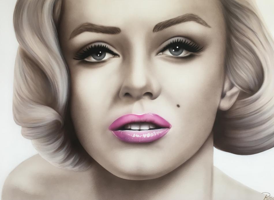 Kunstwerk Marilyn von Bogu