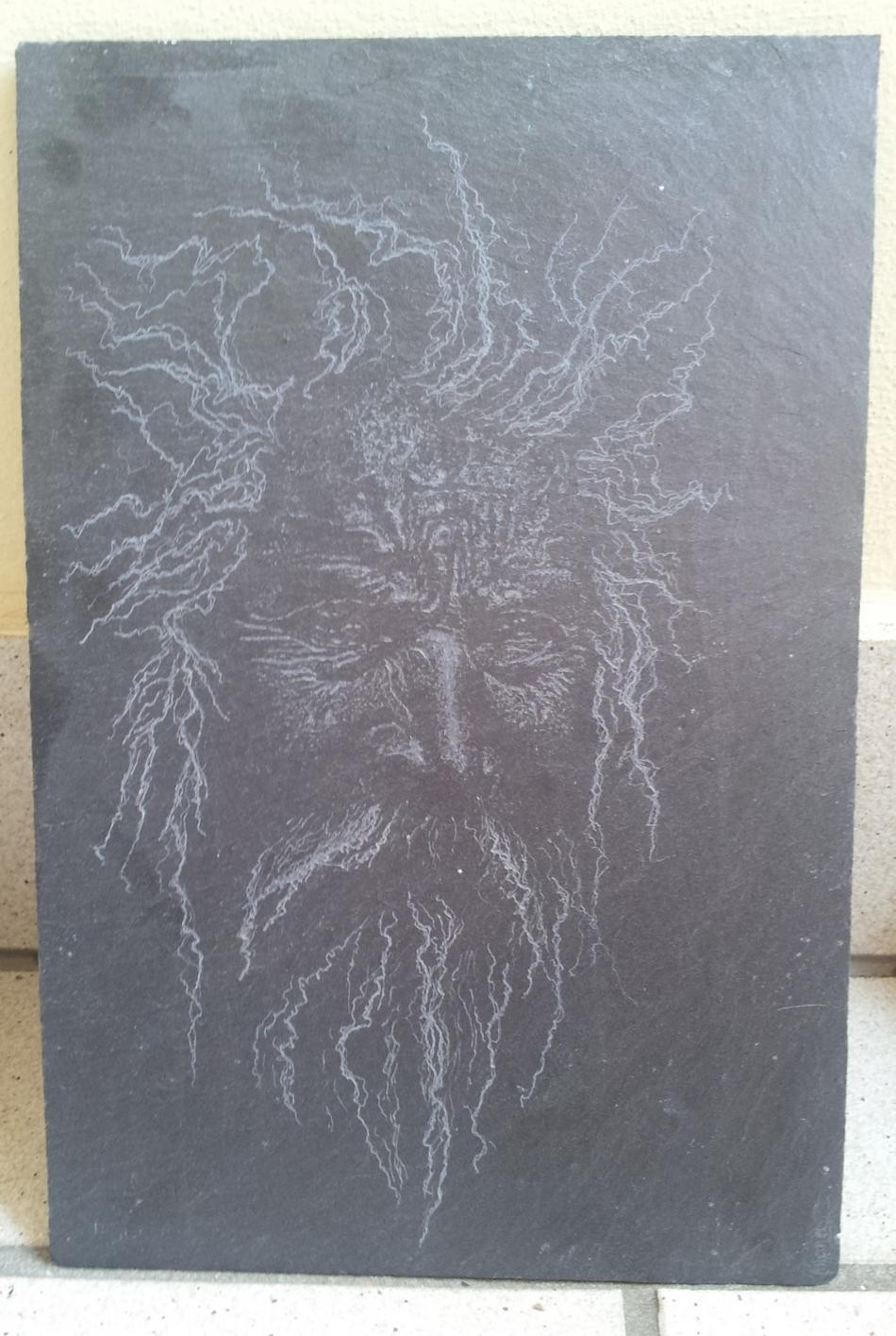 Odin Mensch auf Schiefer