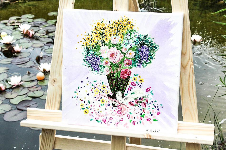 Energiebild Blumenzauber
