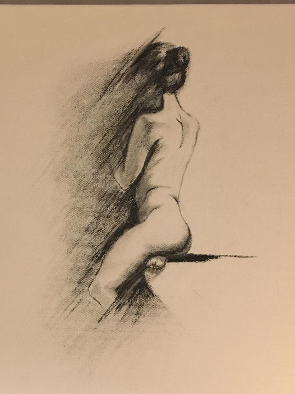 Mädchen im Schatten