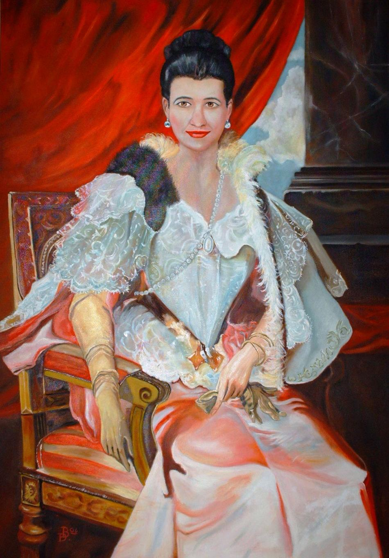 Ivanna in Pose und Robe v.Prinzessin Zinaida Yussupova