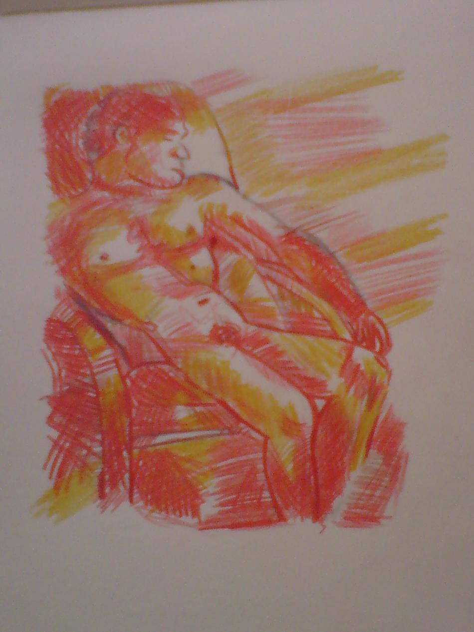 Mann auf dem Sessel