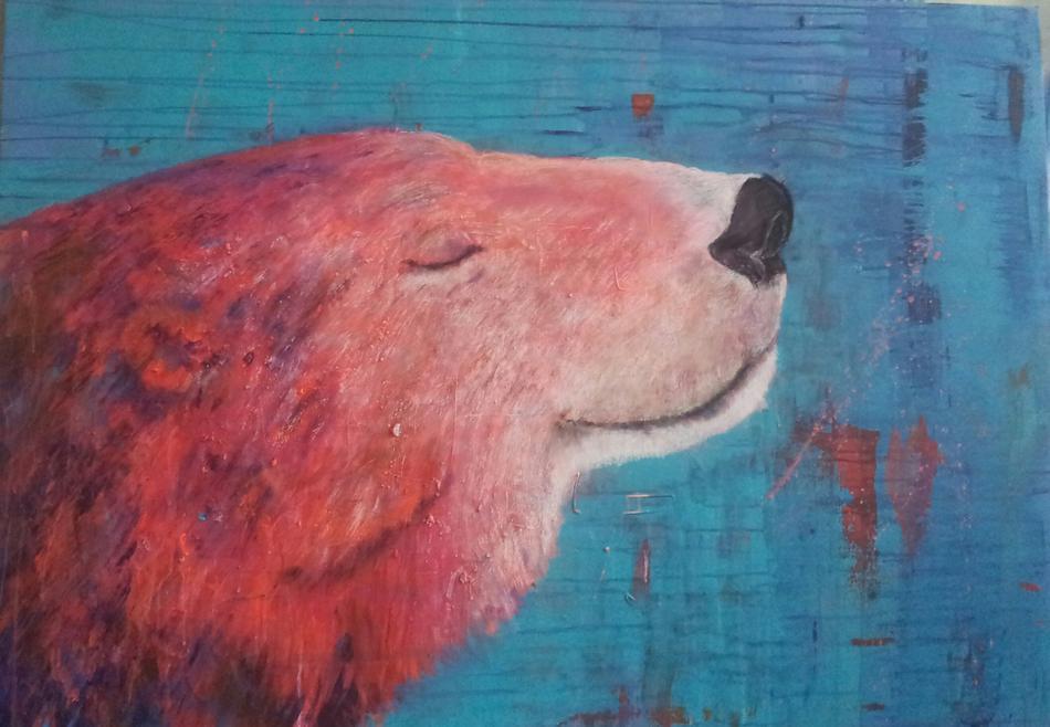 Eisbär Popart