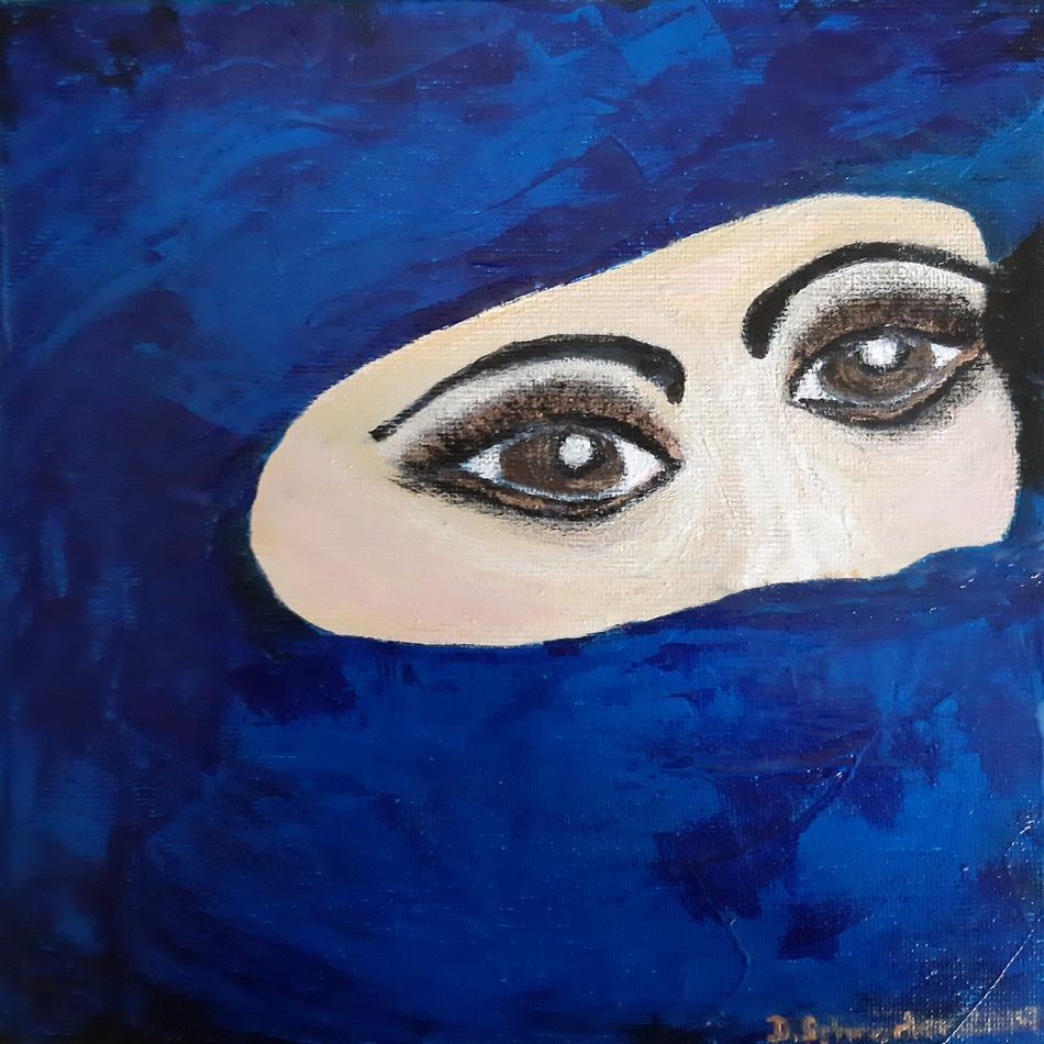 Tuaregfrau Gesicht