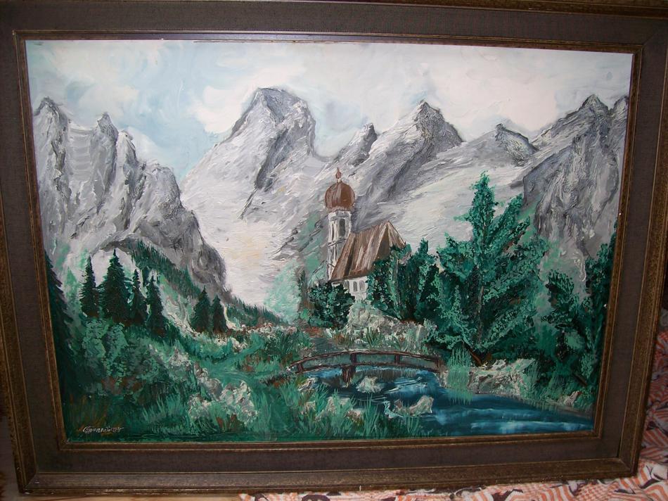 Berglandschaft mit Kirche