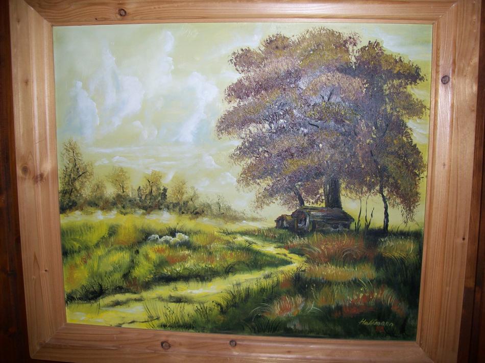 Hütte mit Baum