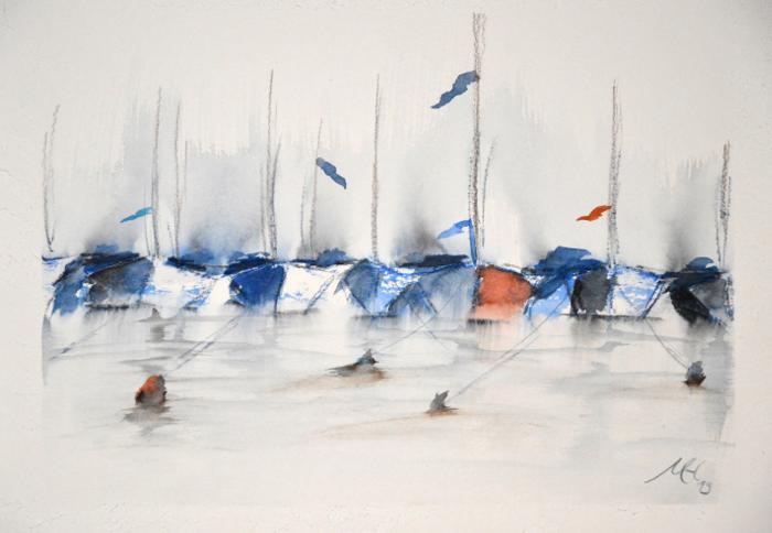 Tönning - Boote im Hafen