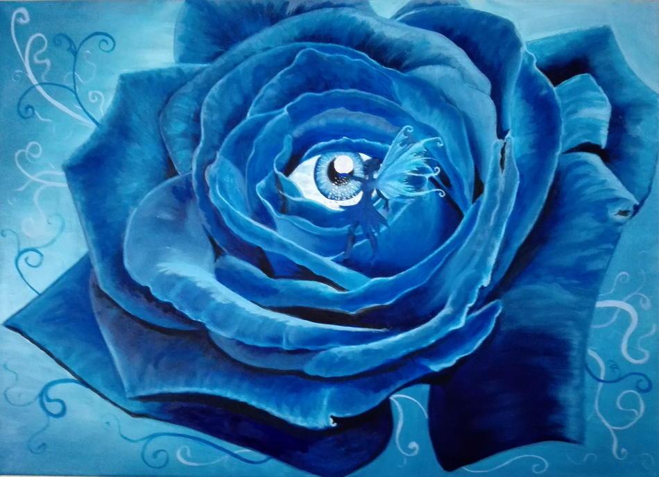 Blaue Feenrose