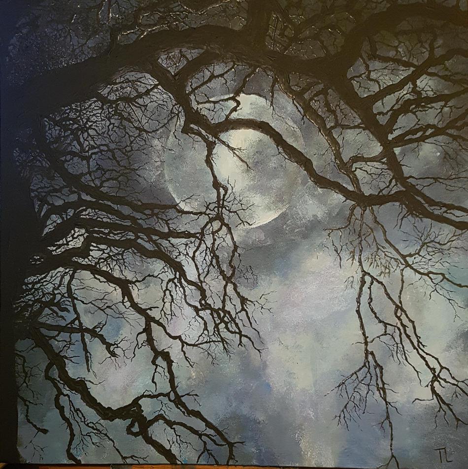 Vollmond im Nebel