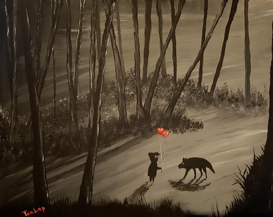 Mysterieuse Begegnung in der Waldlichtung