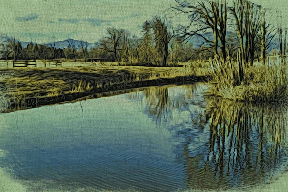 Digitales Landschaftspainting