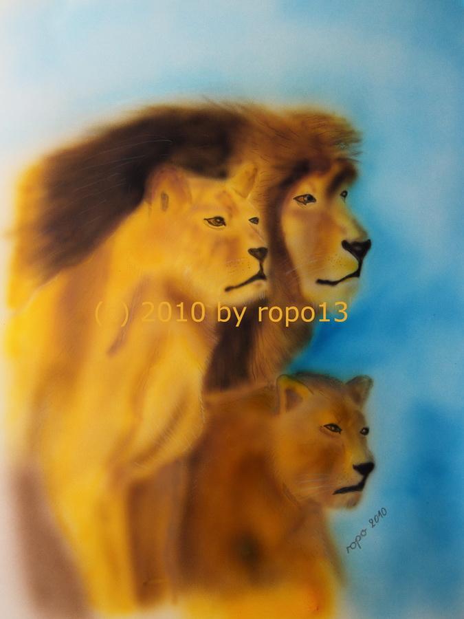 Löwen Familie