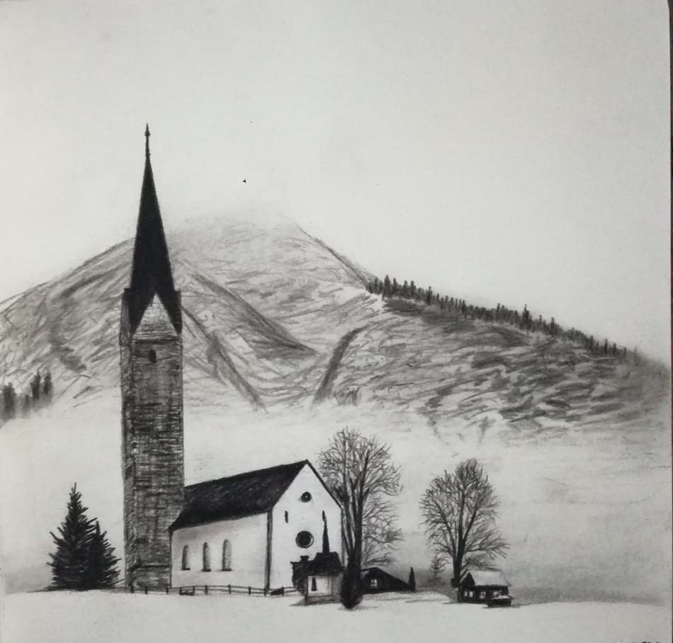 church in alps