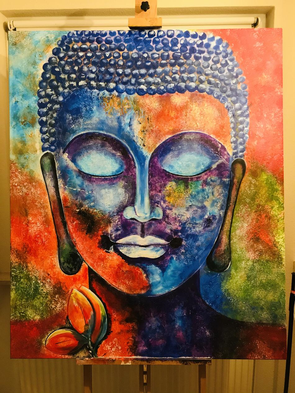 Buddha coloured