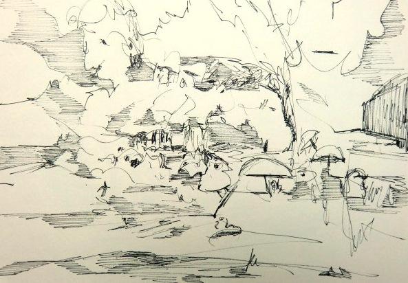 Landschaftszeichnung