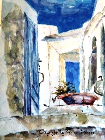Chora auf Patmos 1, Griechenland,