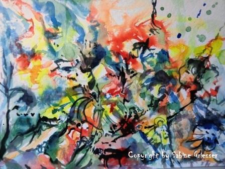 meditatives Bild, farbenfroh, abstrakte Spielerei