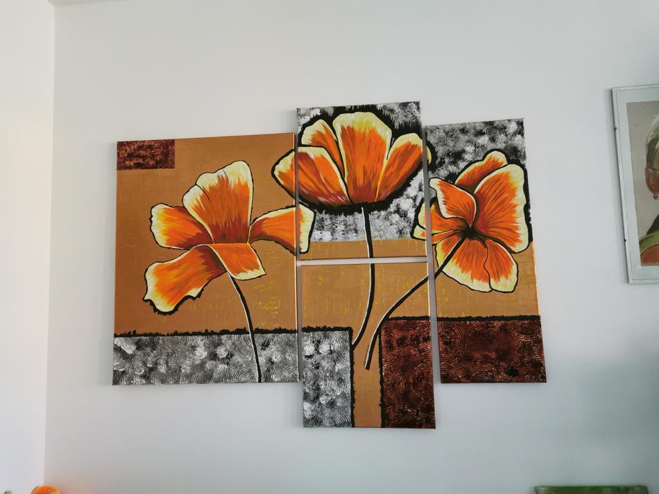 Blume in Orange
