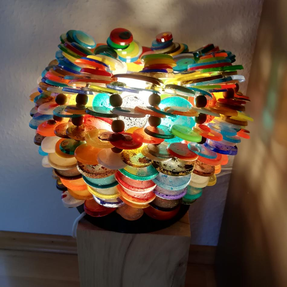 Lampe aus Kunstharz