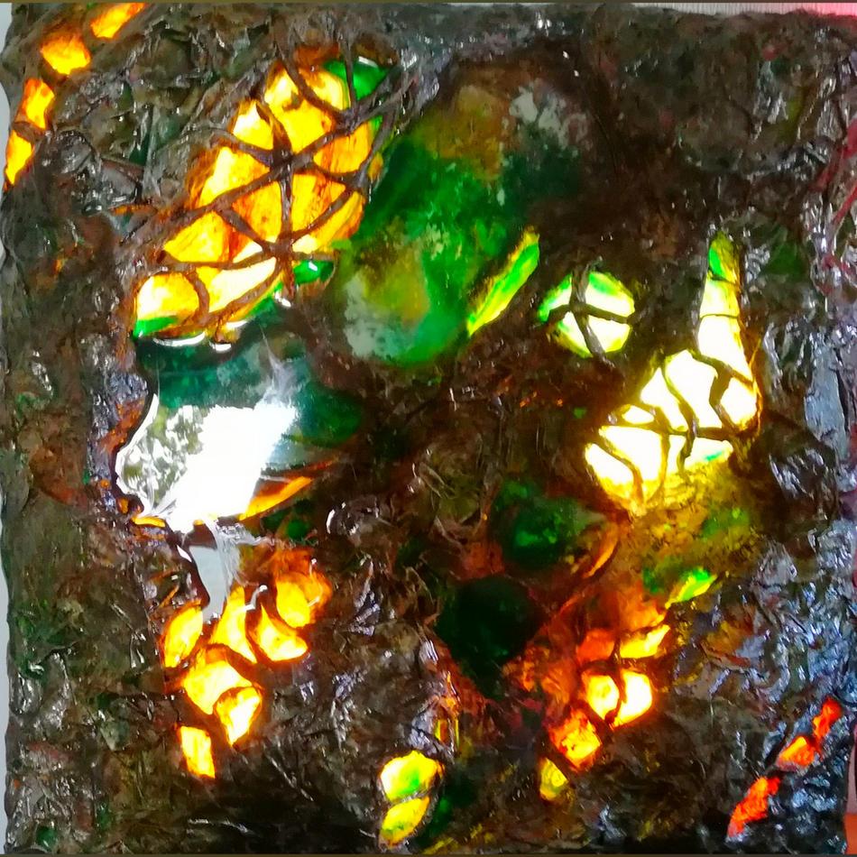 Wandlampe abstrakt indirekt