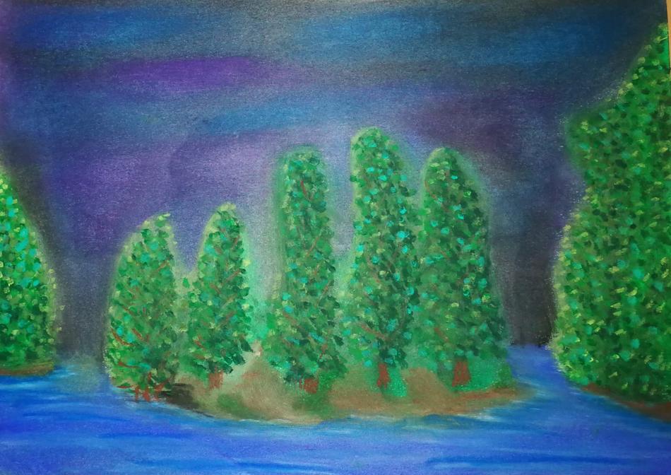 Insel im Mondlicht