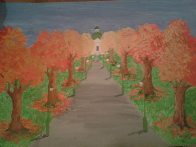 Schönbrunner Allee im Herbst