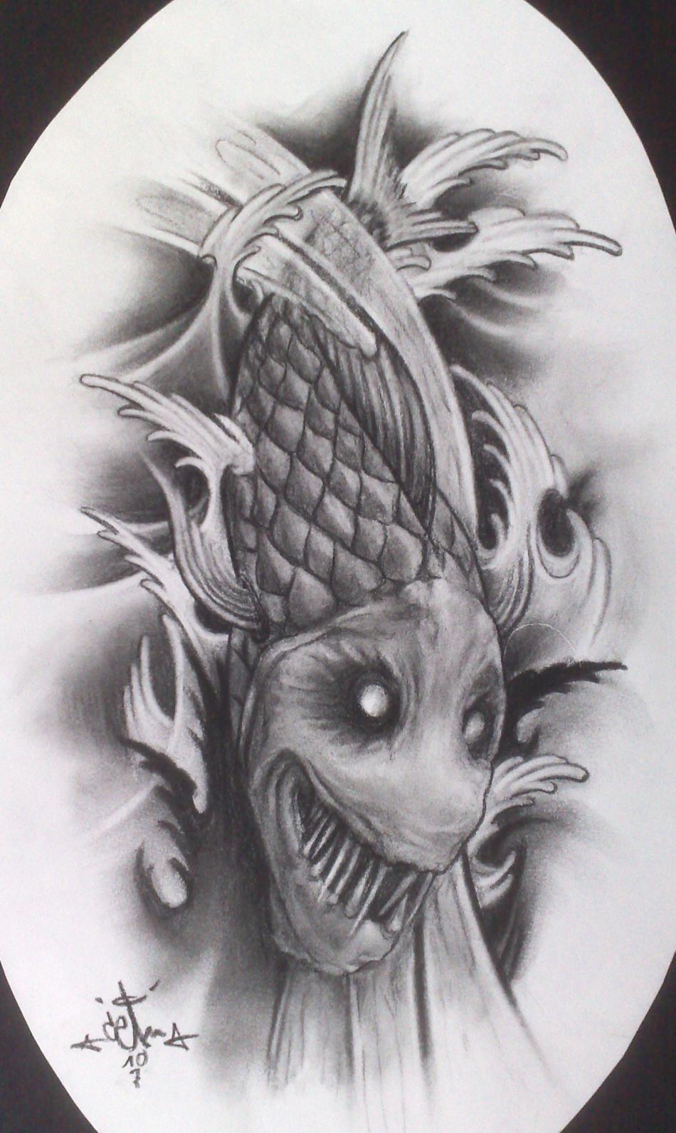 Kunstwerk EVIL KOI von ceam