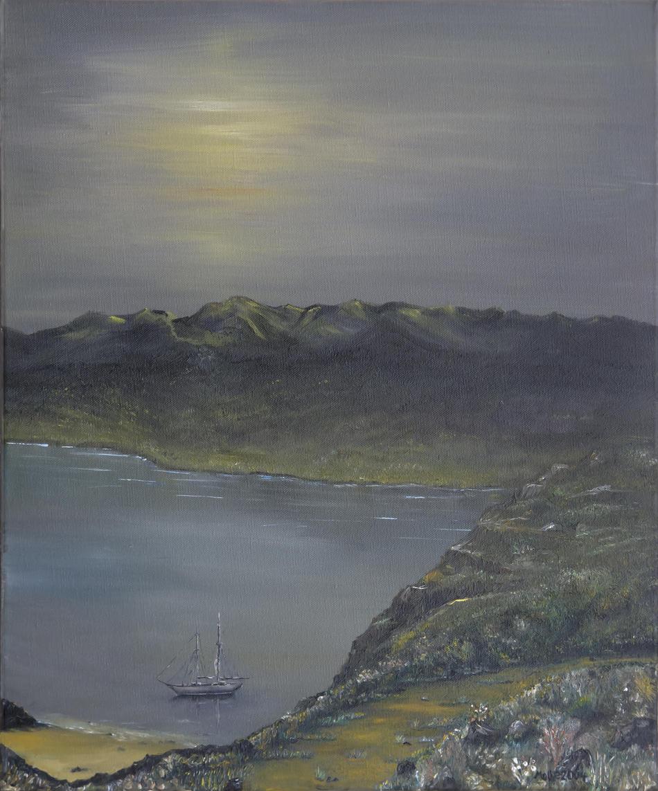 Kunstwerk Segelschiff von Molle