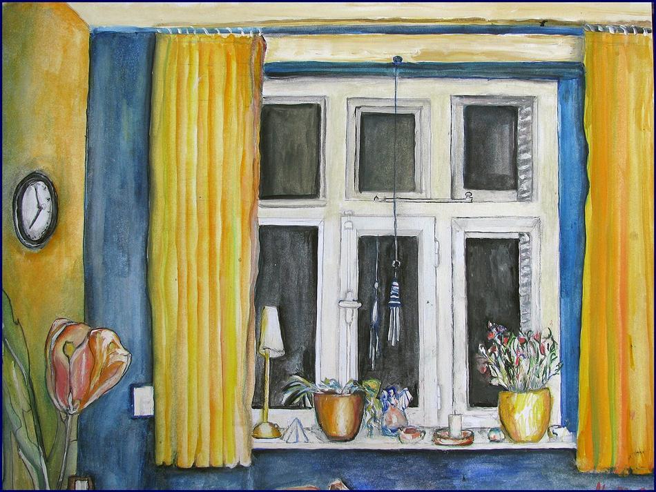 Zu Besuch Malerei