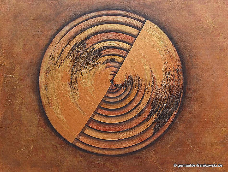 Acrylgemälde, Jahresringe 80x60