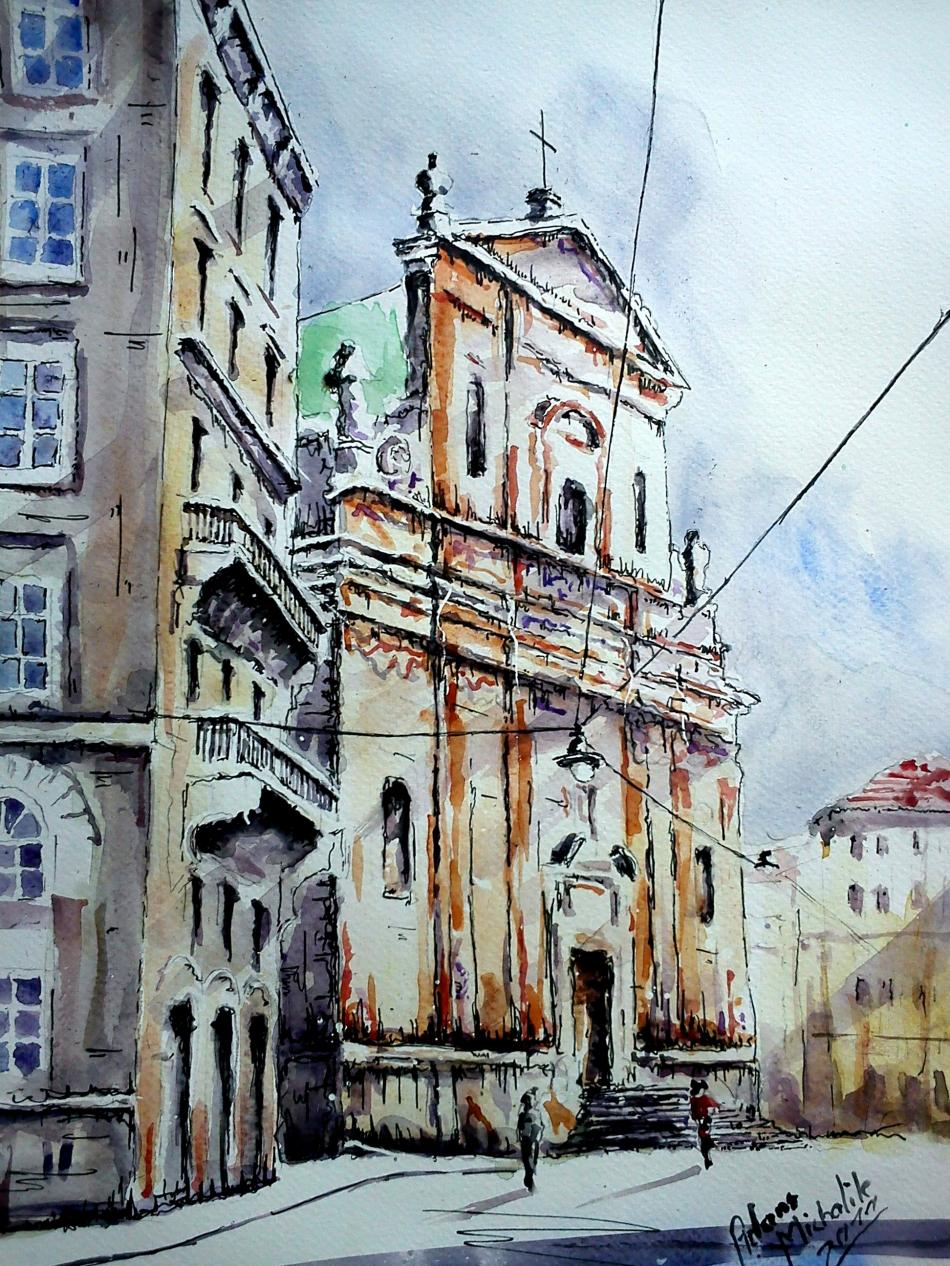 adam michalik-Aquarell Wien