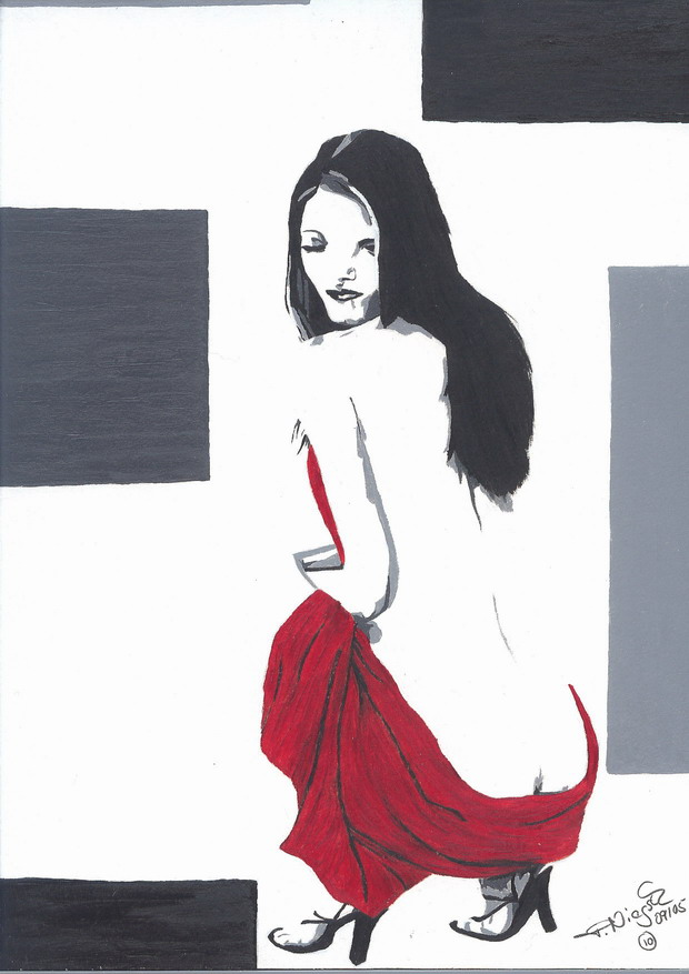 Pop up art girl