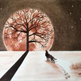 Schatten auf Mond