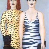 Frauen mit Panther
