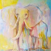 Elefant in Sommerfarben / Elephant in summer colors
