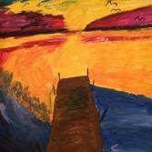 Sunset Steg am Meer