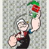 Campbell-Popeye on dollar bills