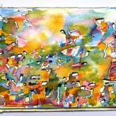 zufälliges spontanes abstraktes Aquarell