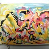 Ein farbenfrohes abstraktes Etwas