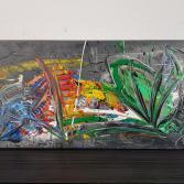 Abstraktes Acrylbild (Gonzo V.)