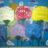 Buntes Blumenbild