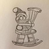 Teddy auf Stuhl