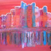Skyline im Morgenrot