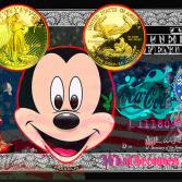 DOLLAR-ART Mickey with golddollar ears