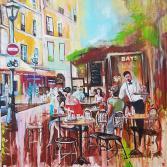 Frühling im Cafe