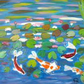 Fische im Seerosenteich