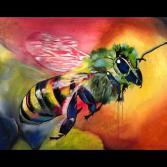"Gemälde ""flotte Biene"""