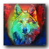 """Gemälde """"colorful lupus"""""""
