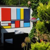 Bunte Flächen nach Mondrian